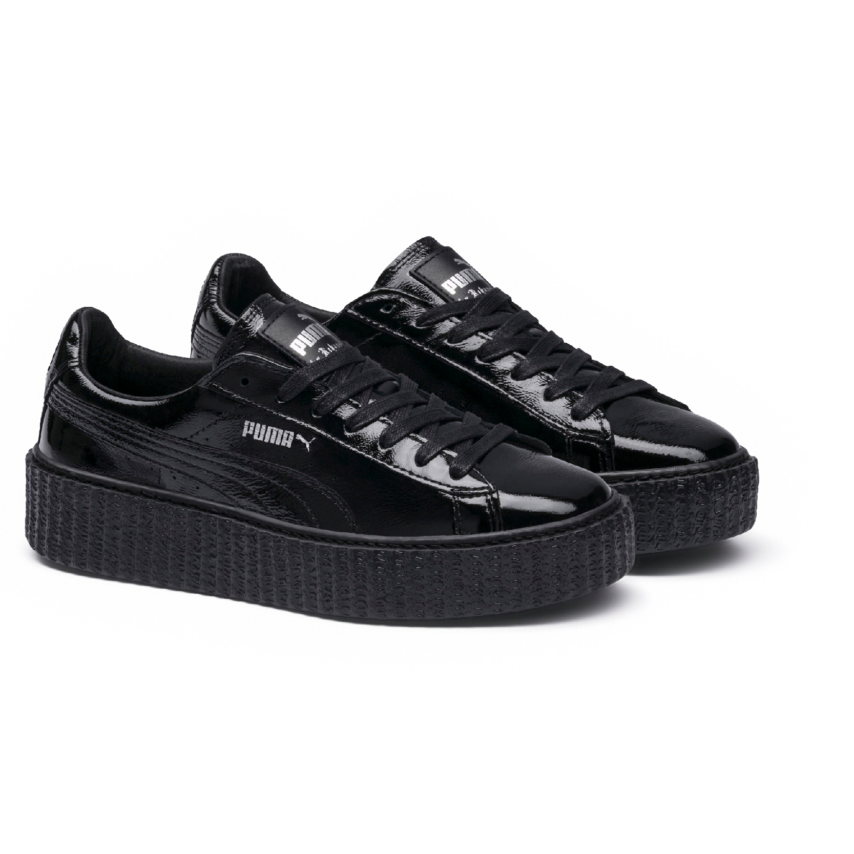 check out 5f5e7 1a454 PUMA FENTY by Rihanna Creeper Cracked Black Leather-Pamper ...