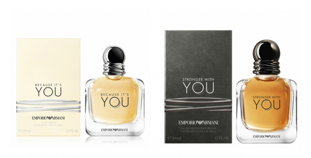 "c67629e61b Start Your Modern-Day Love Story With Emporio Armani's New Couple Fragrances,  ""Because Its You"" & ""Stronger With You"""