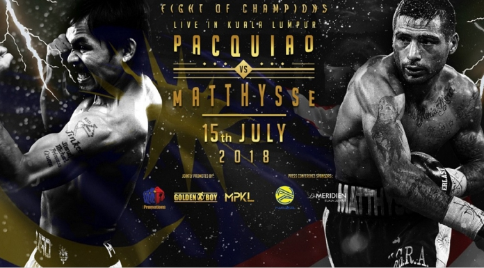 Watch The Historic WBA Welterweight Championship Fight Between Manny Pacquiao & Lucas Matthysse This 15 July!-Pamper.my