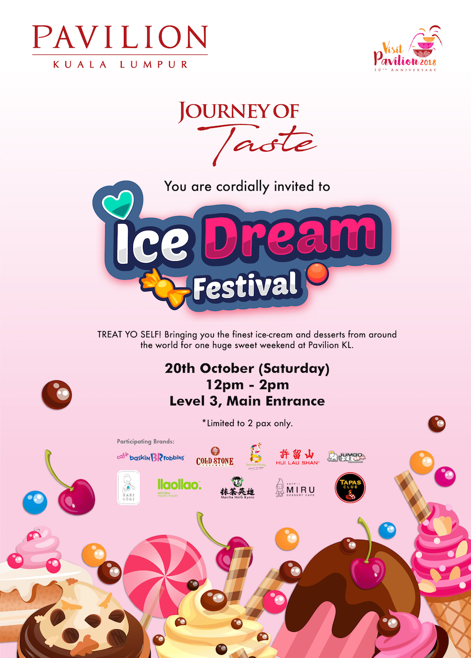 Satisfy Your Sweet Tooth At At Pavilion Kl S Ice Cream Festival Oct 20 21 Pamper My
