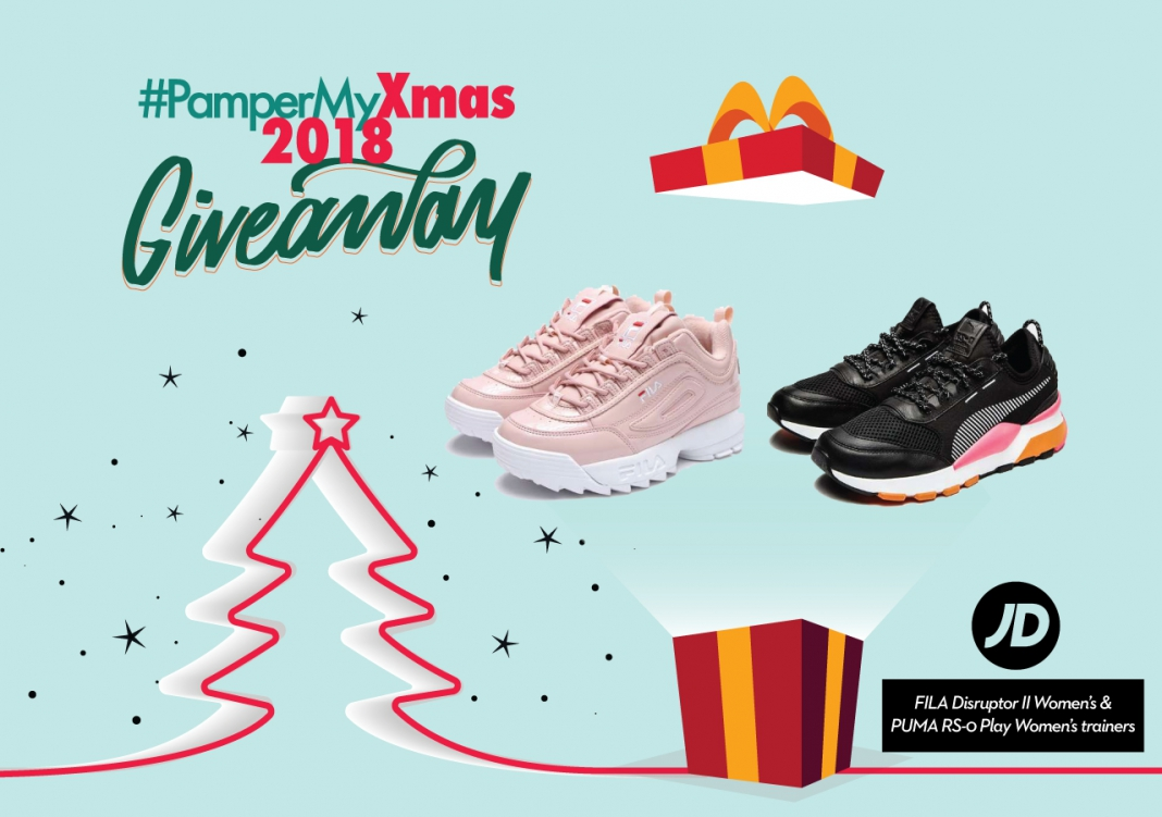 24f94cc745 PamperMyXmas 2018 Giveaway: 2x JD Exclusive Trainers worth more than ...